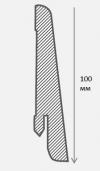 Плинтус шпонированный 100 мм