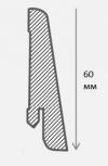 Плинтус шпонированный Евро 60 мм