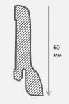 Плинтус шпонированный Классика 60 мм