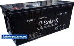 Гелевый аккумулятор SolarX SE200-12 (12V 200Ah)