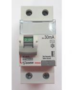 Дифавтомат-Zuver DXLE-63. 25A.30mA. 2P. 6kA. AC