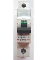 Автоматический выключатель Zuver DX-63. 1P. 10A. 6kA. AC