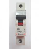 Автоматический выключатель Zuver DX-63. 1P. 16A. 6kA. AC.