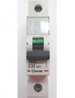 Автоматический выключатель Zuver DX-63. 1P. 32A. 6kA. AC