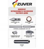 Комплект из нержавеющей стали заземления частного дома ZUVER 4.4