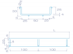 Лоток проволочный 50/35 мм DrateFLEX