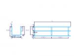 Лоток проволочный 50/60 мм в основе лотка две проволоки DrateFLEX