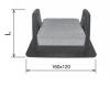 Держатель пластиковый для плоской крыши универсальный с бетонным блоком KovoFlex
