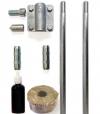 Комплект заземлення з оцинкованої сталі Громовик d16: довжина 3 метра (ОС)