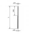 Молниеприемник составной ø 18/10 x 1.5 м алюминий AlMgSi KovoFlex