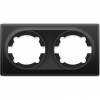Рамка OneKeyElectro Florence двойная, черная 1E52201303