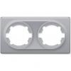 Рамка OneKeyElectro Florence двойная, серая 1E52201302