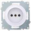 Розетка электрическая OneKeyElectro Florence без заземления, винтовые контакты, белая 1E10301300