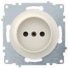 Розетка электрическая OneKeyElectro Florence без заземления, винтовые контакты, бежевая 1E10301301