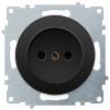 Розетка электрическая OneKeyElectro Florence без заземления, винтовые контакты, черная 1E10301303