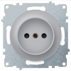 Розетка электрическая OneKeyElectro Florence без заземления, винтовые контакты, серая 1E10301302