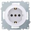 Розетка электрическая OneKeyElectro Florence с заземлением, винтовые контакты, белая 1E10201300