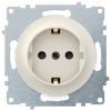 Розетка электрическая OneKeyElectro Florence с заземлением, винтовые контакты, бежевая 1E10201301