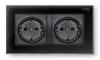 Розетка с заземленням Profi therm Dual Elegant Black