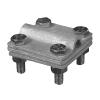 Соединитель полоса-проволока с разделительной пластиной 30x4 HDG KovoFlex