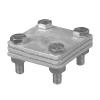 Соединитель полосы c разделительной пластиной максимальный размер полосы 30x4 HDG KovoFlex