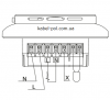 Терморегулятор OJ Electronics сенсорный MWD5-1999-R1P3 WIFI схема подключения
